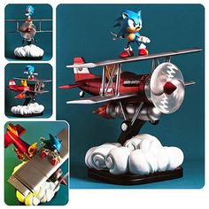 BLOG DOS BRINQUEDOS: Sonic the Hedgehog The Tornado Diorama Statue
