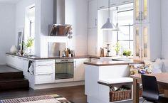 Una original cocina integrada en el salón