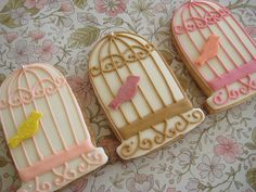 lovely birdcage cookies