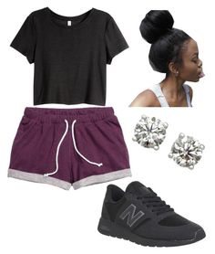 """""""I make this look so easy """" by brejeasmith ❤ liked on Polyvore featuring H&M and New Balance"""