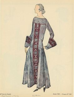 Dress With Circular And Square Embellishments, France, Ca. 1922