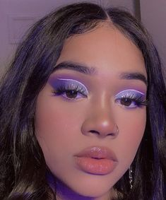 aesthetic makeup inspiration Inspiration: Special price - Learn how to make up professionally . Cute Makeup Looks, Makeup Eye Looks, Eye Makeup Art, Colorful Eye Makeup, Glam Makeup, Gorgeous Makeup, Pretty Makeup, Skin Makeup, Purple Makeup Looks