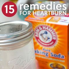 15 Natural Remedies for Heartburn & Severe Acid Reflux | Everyday Roots - Just tried the 1/2 tsp of baking soda in a bit of water and was amazed at how I felt so much better almost immediately! Some great suggestions from an awesome natural living website I'd highly recommend