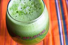 green juice with orange. Our favorite green juice so far!