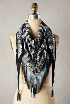 Anthropologie Majorca Fringed Square Scarf #anthrofave