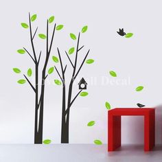 Tree---Vinyl Wall Decal Vinyl Wall Art Stickers Tree Wall Decals Wall stickers Nursery wall decal children's wall decals. $46.00, via Etsy.