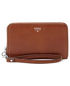 Fossil Wristlet, Sydney Leather Zip Phone Wallet - Fossil - Handbags & Accessories - Macy's