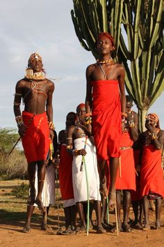 """The Maasai people of Kenya. They live a nomadic life, which means they move from place to place with their animals."