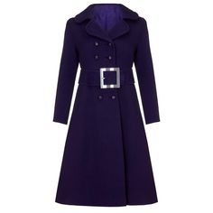 1960s Haute Couture Space Age Purple Wool Coat    From a collection of rare vintage coats and outerwear at https://www.1stdibs.com/fashion/clothing/coats-outerwear/