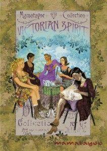 Postal de la colección Victorian Spirit. Victorian, Baseball Cards, Fashion Branding, Fabrics, Clothing