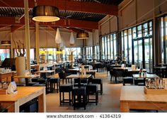 stock photo : Modern cafe interior