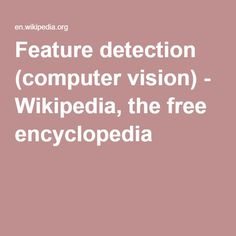 Feature detection (computer vision) - Wikipedia, the free encyclopedia