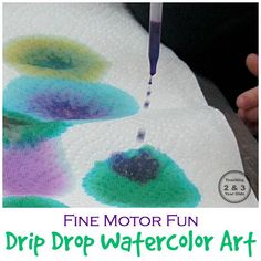 Watercolor Painting on Paper Towels