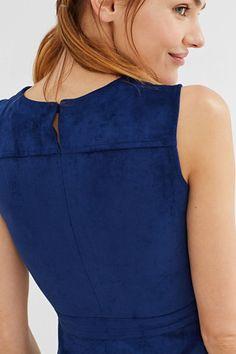 EDC / Midi-jurk van imitatiesuède
