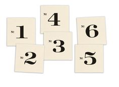 Image of Numbered Edition Coasters, set of six