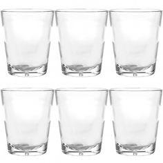 6 Symglass 10oz Unbreakable Plastic Rocks Glasses – Thick Sham