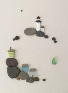12 von 16 Meer Seite Kunst mit Kieselsteinen Meer von PebbleArt