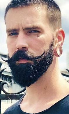The Manly Beard plus Handlebar Beard And Mustache Styles, Beard Styles For Men, Beard No Mustache, Hair And Beard Styles, Curly Hair Styles, Classic Mens Hairstyles, Handlebar Mustache, Awesome Beards, Facial Hair