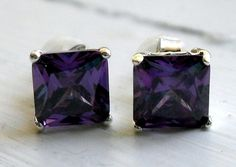 """Amethyst Sterling Silver Earrings   Part of the huge """"Weekly Community Bazaar Auction"""" on Tophatter. Please RSVP! Link: http://tophatter.com/auctions/3743"""