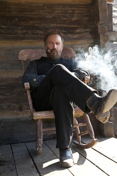 Kevin Costner in The Hatfields and McCoys.