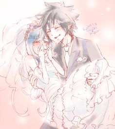 Awww, I thought this was so cute! Juvia is all emotional and Gray is just...smiling cause he's so happy. :)