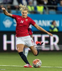 Ada Hegerberg of Norway during the UEFA Womens Euro2017 Qualifier match between Norway and Kazakhstan at Aker Stadion on September 15, 2016 in Molde, Norway.