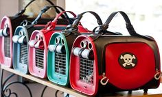 Designer Pet Totes and Handbags | ... travel bags pet flys carriers are the trendy edgy airline approved pet