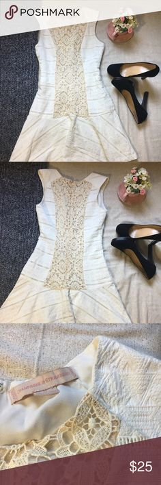 🍁EUC🌼Champagne&Strawberry🌼Dress🍁 This Champagne & Strawberry dress is perfect for any kind of outing! Really cute dress! 💕  Item No. : K013 Champagne & Strawberry Dresses