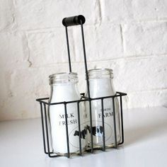 Milk bottle candles!