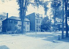 Henry M. Wheeler. Paine House, Lincoln St., Worcester. Cyanotype print. Ca. 1890s.