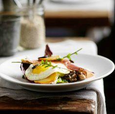 Prosciutto, egg, arugula, and mushrooms. Gourmet simplicity #tangoo #vancouver