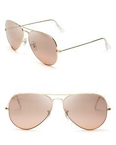 edfe083d72bf5 Ray-Ban Classic Aviator Sunglasses   Bloomingdale s Sunglasses Women,  Wayfarer Sunglasses, Mirrored Sunglasses