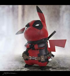 cosplay de Deadpool pikachu