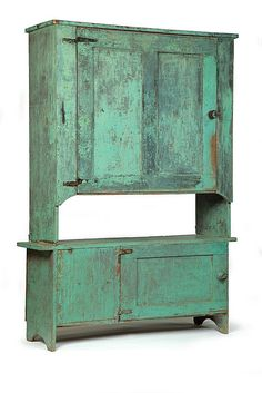 19th century North Carolina cupboard... color is awesome! I really, really need this!