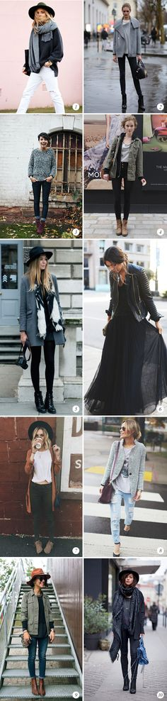 Fall Street Style. Except the ballroom skirt one. The rest are very do-able!