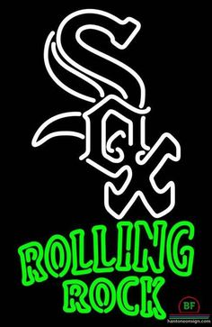 Rolling Rock Chicago White Sox Neon Sign MLB Teams Neon Light
