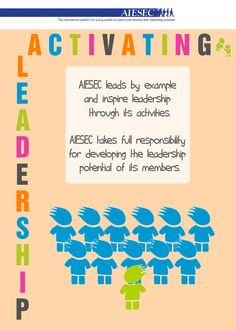 AIESEC Value: Activating leadership Lead By Example, Diversity, Affair, No Response, Leadership, Acting, Student, My Love, Day