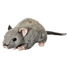 31cm Living Nature Rat with Squeak Soft Toy