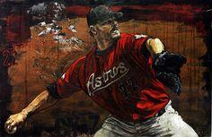 UNTITLED Texans Game, Baseball Art, Holland, Superhero, Studio, Art Work, Painting, Fictional Characters, Sports