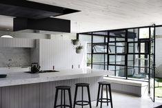 Urbain Moderne Residence - St Kilda, Melbourne - Cos Intérieurs Pty Ltd Kitchen Interior, Kitchen Design, Kitchen Ideas, Kitchen Inspiration, Industrial Chic Kitchen, Classic Bathroom, Modern Bathroom, Australian Homes, Style At Home