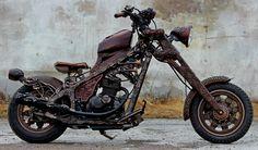 Wood Carved Motorbike: Steampunk Tendencies