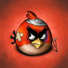 Damaged Angry Bird