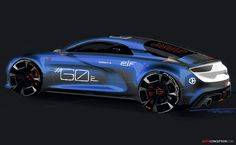 Alpine 'Celebration' Concept Created for Le Mans 24 Hours