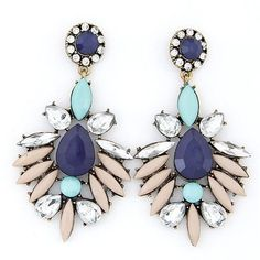Blue Blossom Statement Earrings