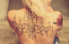 chandelier back tattoo - Google zoeken