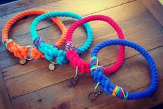M & B Summer Rope Dog Collar Range. Available in slip or clip collars.