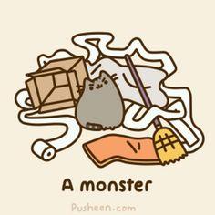 Pusheen the monster