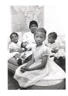 Betty Shabazz and her children