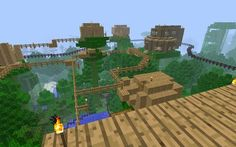minecraft amazing house map | Travel across tall treetops and amazing tree houses.