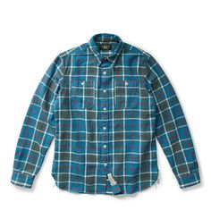 4820cd5dea13 DOUBLE - RL PLAID COTTON TWILL WORKSHIRT Cool Style